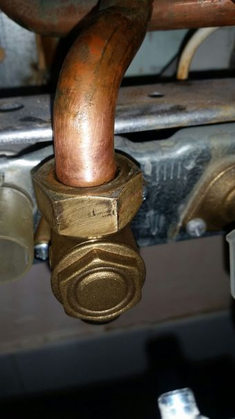 After - replacement boiler isolation valve