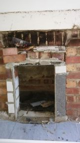 How not to build a fireplace opening!